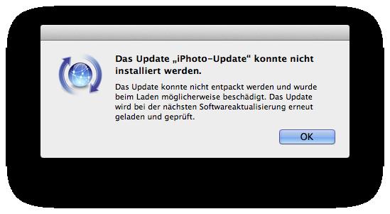 Fehler beim Installieren von Updates unter OS X