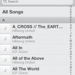 Übersicht aller Alben in der Music App von iOS 6