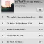 Albumansicht in der neuen Music App von iOS 6
