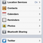 Privacy Einstellungen in iOS 6
