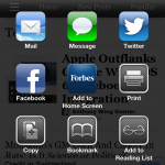 Safari sharing in iOS 6