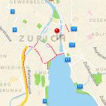 Stadt Zürich in der neuen Maps / Karten App in iOS6