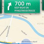 Navigation in der neuen Maps / Karten App