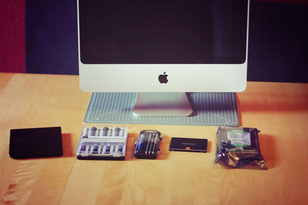 Komponenten für iMac SSD Upgrade